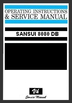 SERVICE MANUAL OF SANSUI 8080 DB