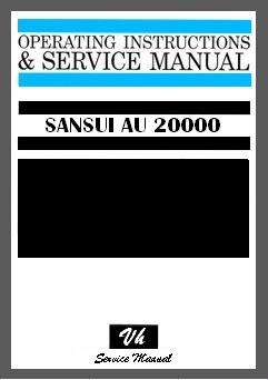 SERVICE MANUAL OF SANSUI AU 20000