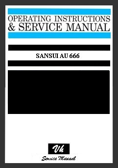 SERVICE MANUAL OF SANSUI AU 666