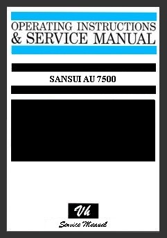 SERVICE MANUAL OF SANSUI AU 7500