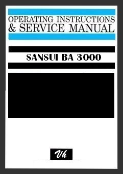SERVICE MANUAL OF SANSUI BA-3000