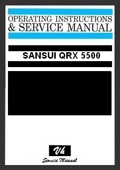 SERVICE MANUAL OF SANSUI QRX 5500