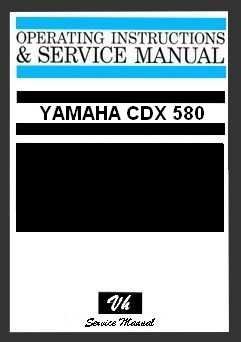 SERVICE MANUAL YAMAHA CDX 580