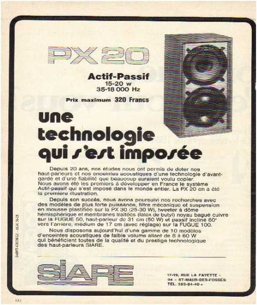 Pages advertising market of the 70 stereo,Siare