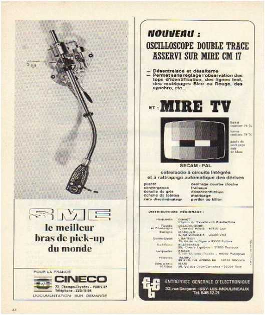 Pages advertising market of the 70 stereo,Sme