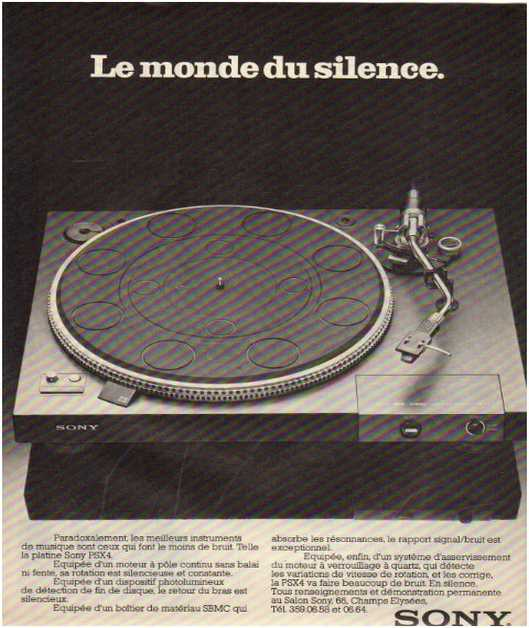 Advertisements from the hifi,Sony