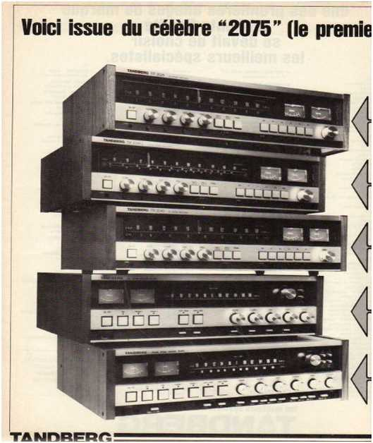 Advertisements from the hifi,Tandberg