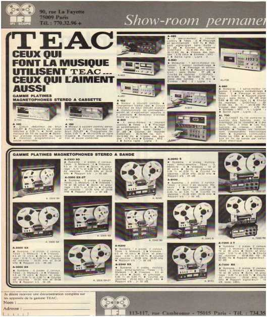 Advertisements from the hifi,Teac