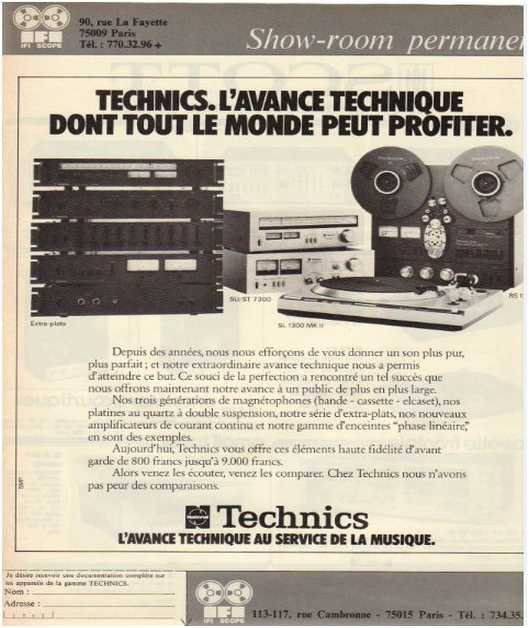 Advertisements from the hifi,Technics