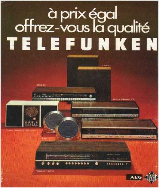 Pages advertising market of the 70 stereo,T�l�funken
