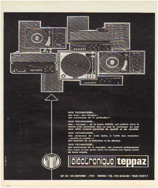 Pages advertising market of the 70 stereo,Teppaz