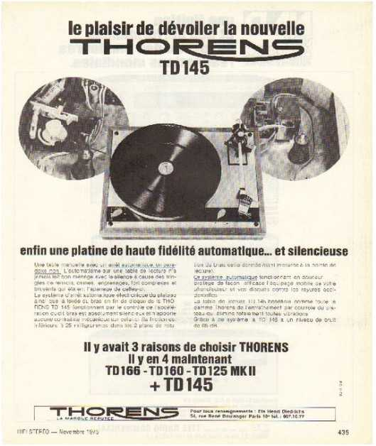 the high fidelity of 70 years, the brand Thorens